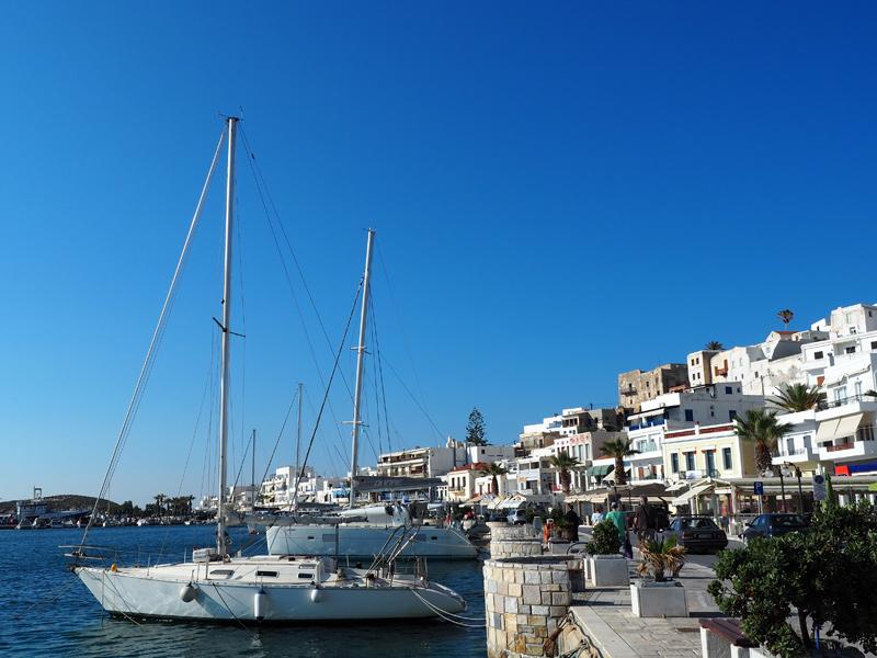 Naxos - Hafen in Chora