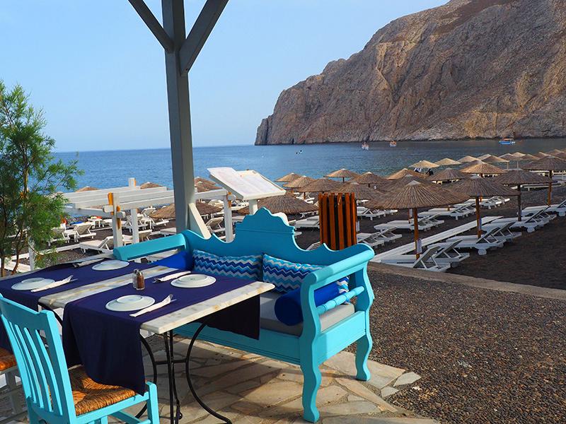 Santorin - Kamari Strand, Restaurant