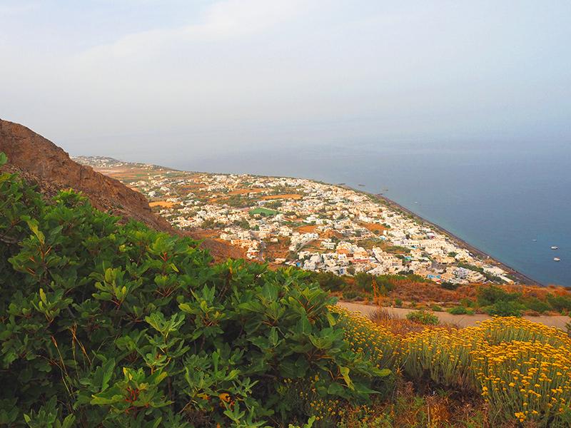 Santorin Wandern Kamari-Perissa