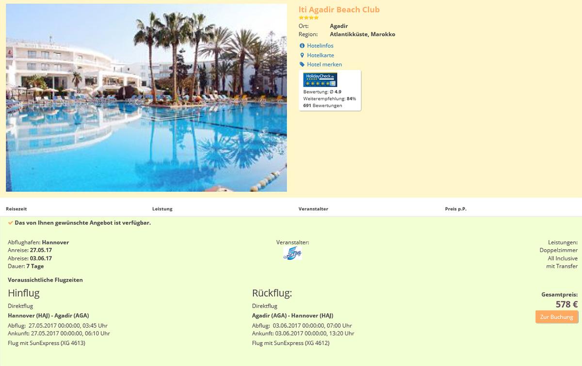 Billiger All Inclusive Urlaub Marokko 1 Woche Im 4 Sterne Hotel