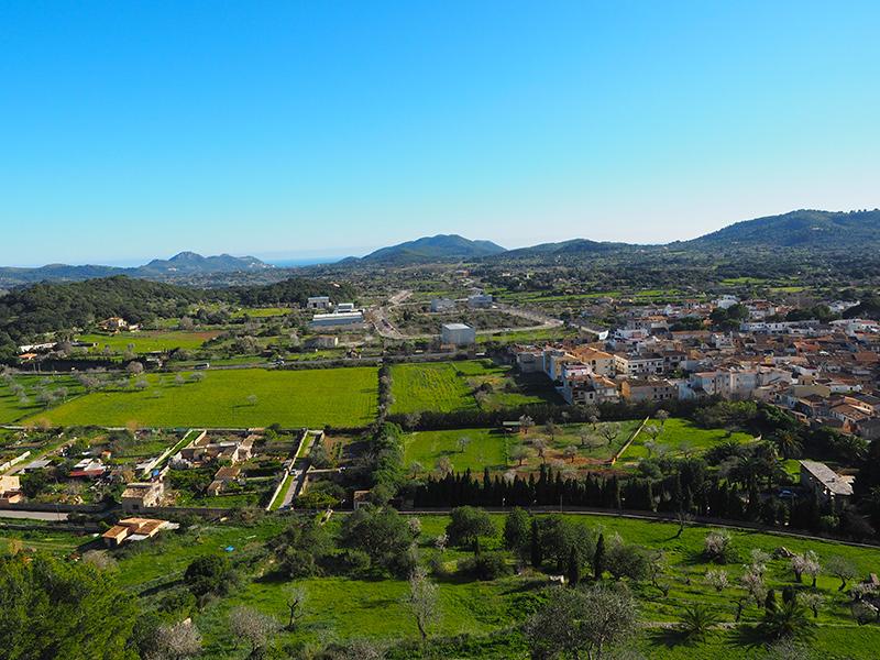 Mallorca - Blick von der Festung in Arta