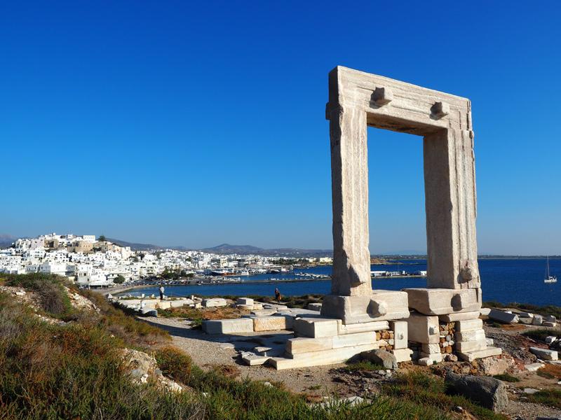 Naxos - Tempel Portrara in Chora