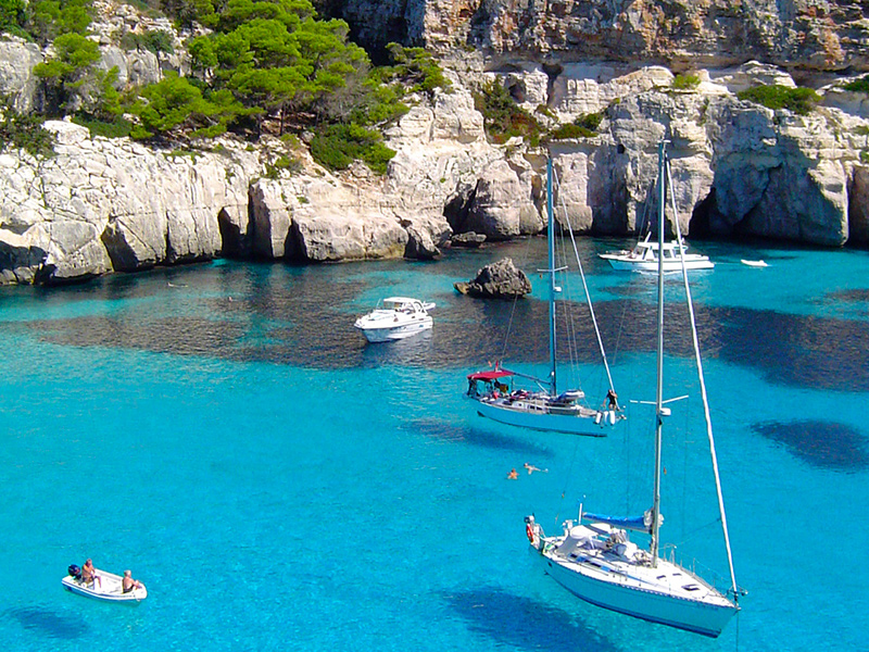 Menorca Felsklippen