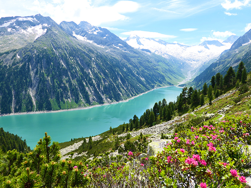 Wanderurlaub in den Alpen im Zillertal