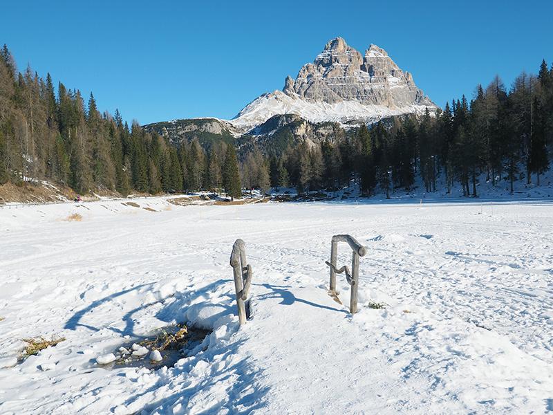 Antornosee im Winter - Dolomiten
