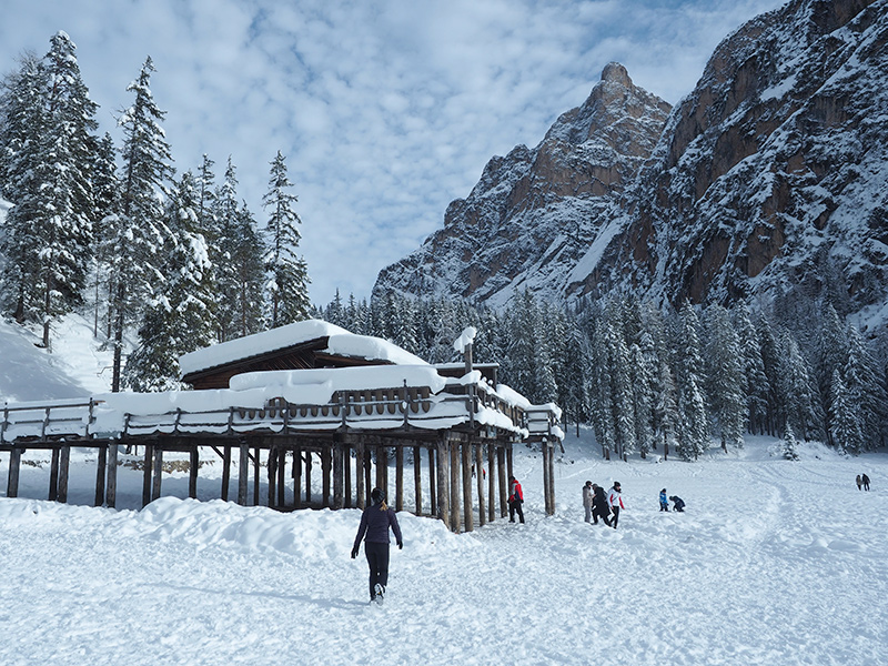 Pragser Wildsee im Winter - Dolomiten