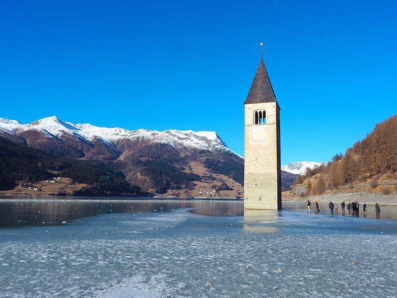Rechensee im Winter - Vinschgau