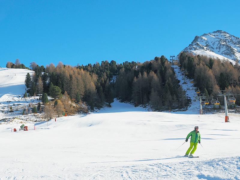 Südtirol - Skifahren im Vinschgau